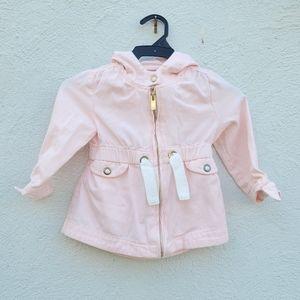 Aspen Kids pink hooded jacket size 12 months